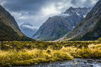 River in Fiordland national park, New Zealand