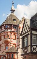 Fachwerkhäuser in der Altstadt von Traben-Trarbach an der Mosel