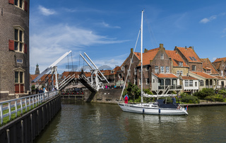 Enkhuizen with Sailing Ship