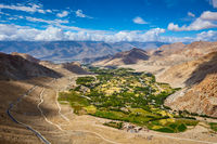 View of Indus valley in Himalayas. Ladakh, India