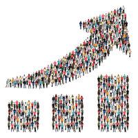 Menschen Gruppe Leute Erfolg Wirtschaft Wachstum erfolgreich Diagramm Business