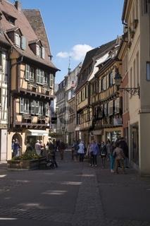 Colmar, Fußgängerzone in der Rue des Boulangers