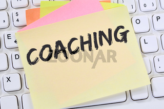 Coaching Beratung Schulung Personal Workshop Training Bildung Karriere Notizzettel Business Konzept