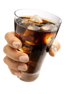 Hand holding a cola