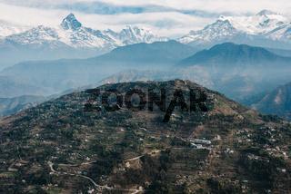 Sarangkot hill and the Machapuchare, Nepal