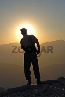 Soldat, Nemrut Dagi, Anatolien, Tuerkei / Soldier, Nemrut Dagi, Anatolia, Turkey