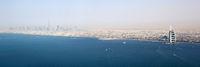 Dubai Panorama Burj Khalifa Al Arab Hotel Luftaufnahme Luftbild