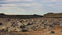 Volcanic landscape in the  Vatnajoekull national park, Iceland. Cold lava.
