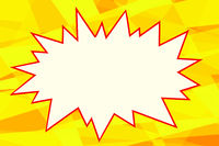 yellow pop art background comics bubble