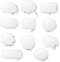 Speech Bubble Set Isolated