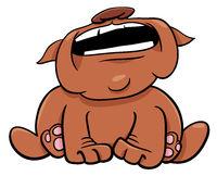 barking or howling bulldog cartoon character