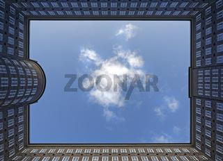 Sprinkenhof, Innenhof, Bürogebäude, Hamburg, Deutschland, Europa