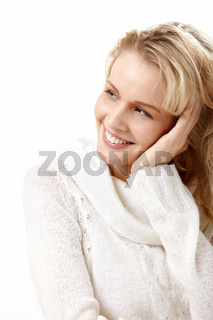 Portrait of the girl isolated on the white