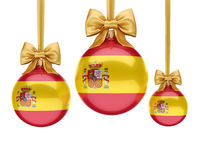 3D rendering Christmas ball with the flag of Spain