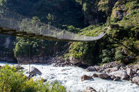 Nepalese suspension bridge