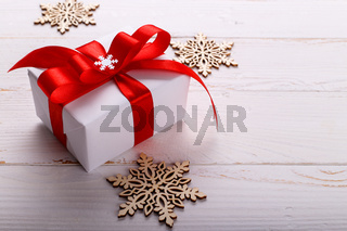 Christmas white gift box