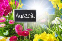 Sunny Spring Flower Meadow, Auszeit Means Downtime