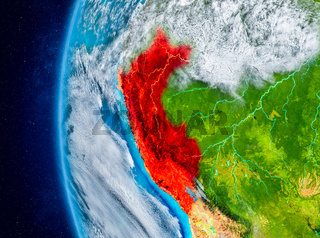 Peru on Earth from space
