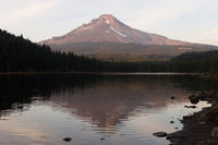 Summer Time Trillium Lake Timberline Mount Hood Cascade Range Oregon
