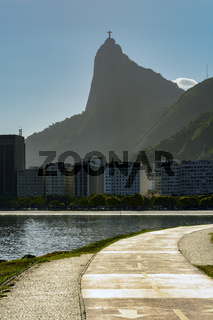 Botafogo beach and Christ redeemer