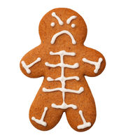 Halloween Skeleton Cookie Isolated on White Background