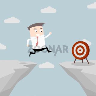 Businessman Target Jump