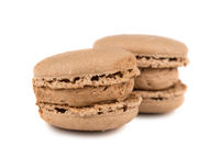 Pair of brown french macaroons