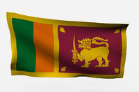 Sri Lanka 3d flag
