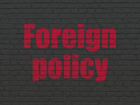 Politics concept: Foreign Policy on wall background