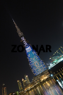 Burj Khalifa, world's tallest skyscraper, Dubai, United Arab Emirates.