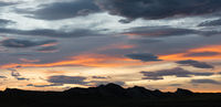 Dramatic Contrast Skyscape Evening Dusk Sunset Long Panoramic