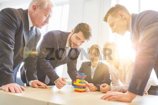 Business Leute im Teamtraining Workshop