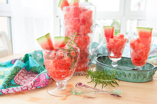 Frisches Granita aus Wassermelone