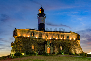 Historic lighthouse in Salvador city