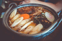 traditional japanese sukiyaki meal