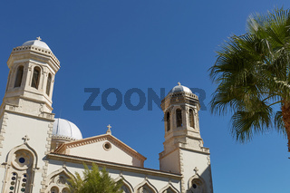 Church during beautiful summer day in Limassol, Cyprus