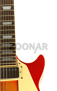 Electric guitar isolated in white