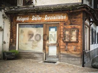 geschlossenes Geschäft an der Ecke