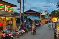 People Pai market street, Thailand