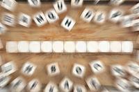 Würfel Textfreiraum Copyspace für elf Buchstabe oder Text Business Konzept