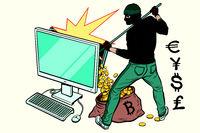 Online hacker steals money from computer