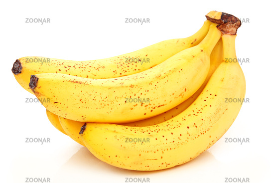 Bunch of Ripe Banana Isolated on White