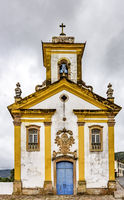 Antique historical catholic church in Ouro Preto city