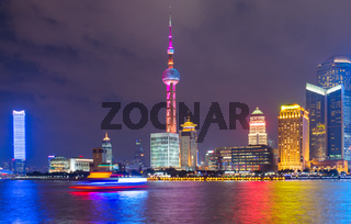 Night skyline of Shanghai. China