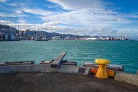 Wellington harbour docks, New Zealand