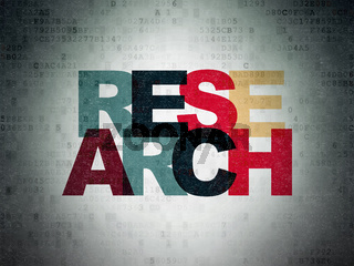 Marketing concept: Research on Digital Data Paper background