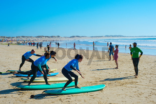 Surf training beach. Baleal, Portugal