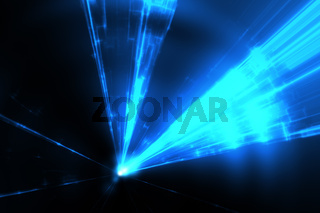 blue laser rays