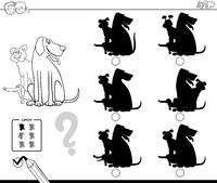 shadows with dogs educational color book