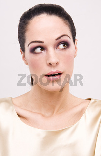 young beautiful woman with nice face expression